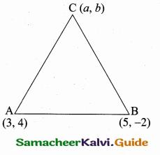 Samacheer Kalvi 10th Maths Guide Chapter 5 Coordinate Geometry Additional Questions 17