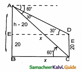 Samacheer Kalvi 10th Maths Guide Chapter 6 Trigonometry Ex 6.5 111