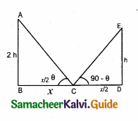 Samacheer Kalvi 10th Maths Guide Chapter 6 Trigonometry Ex 6.5 12
