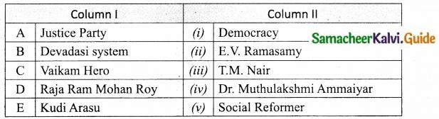 Samacheer Kalvi 10th Social Science Guide History Chapter 10 Social Transformation in Tamil Nadu 2