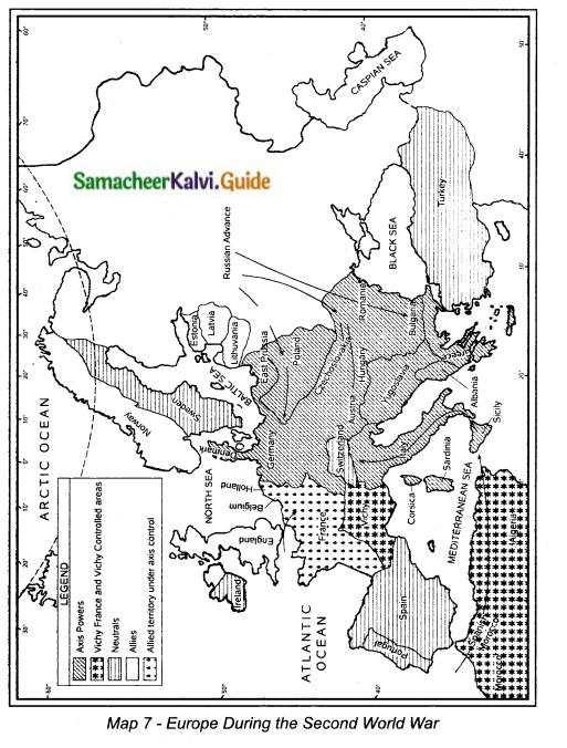 Samacheer Kalvi 10th Social Science Guide History Chapter 3 World War II 5