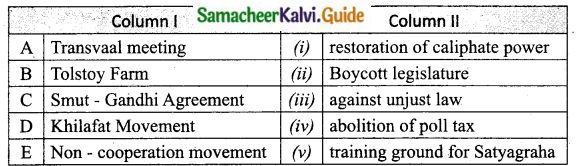 Samacheer Kalvi 10th Social Science Guide History Chapter 8 Nationalism Gandhian Phase 3