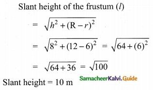 Samacheer Kalvi 10th Maths Guide Chapter 7 Mensuration Ex 7.1 Q10.1