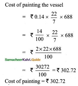 Samacheer Kalvi 10th Maths Guide Chapter 7 Mensuration Ex 7.1 Q9.1