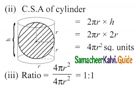Samacheer Kalvi 10th Maths Guide Chapter 7 Mensuration Ex 7.3 Q7