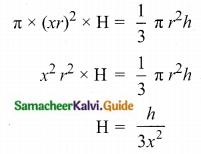 Samacheer Kalvi 10th Maths Guide Chapter 7 Mensuration Ex 7.4 Q3
