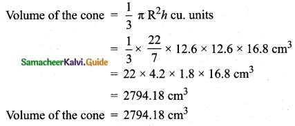 Samacheer Kalvi 10th Maths Guide Chapter 7 Mensuration Unit Exercise 7 Q10.2