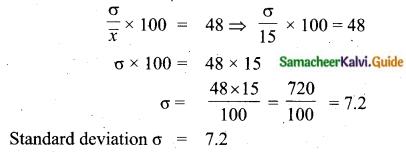 Samacheer Kalvi 10th Maths Guide Chapter 8 Statistics and Probability Ex 8.2 Q3