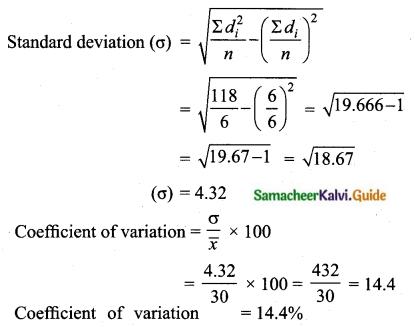 Samacheer Kalvi 10th Maths Guide Chapter 8 Statistics and Probability Ex 8.2 Q5.1