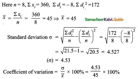 Samacheer Kalvi 10th Maths Guide Chapter 8 Statistics and Probability Ex 8.2 Q6.1