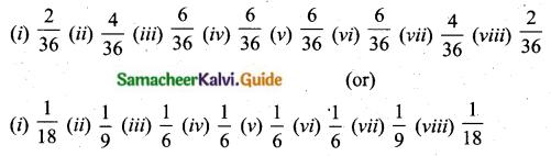 Samacheer Kalvi 10th Maths Guide Chapter 8 Statistics and Probability Ex 8.3 Q9