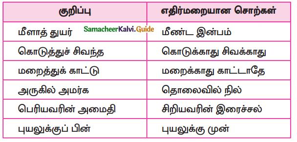 Samacheer Kalvi 10th Tamil Guide Chapter 4.5 இலக்கணம் - பொது - 10