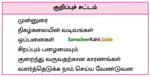 Samacheer Kalvi 10th Tamil Guide Chapter 6.1. நிகழ்கலை - 3