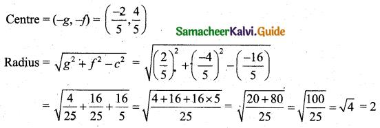 Samacheer Kalvi 11th Business Maths Guide Chapter 3 Analytical Geometry Ex 3.4 Q2.2