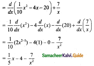 Samacheer Kalvi 11th Business Maths Guide Chapter 6 Applications of Differentiation Ex 6.1 Q1.3