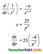 Samacheer Kalvi 11th Business Maths Guide Chapter 6 Applications of Differentiation Ex 6.1 Q11.1