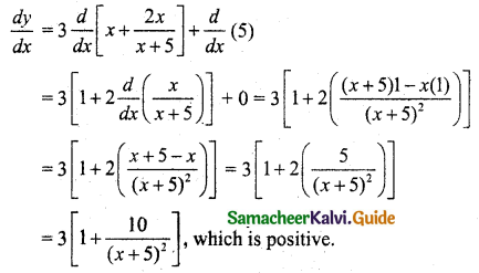 Samacheer Kalvi 11th Business Maths Guide Chapter 6 Applications of Differentiation Ex 6.1 Q14.1