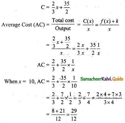 Samacheer Kalvi 11th Business Maths Guide Chapter 6 Applications of Differentiation Ex 6.1 Q2.1
