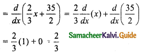 Samacheer Kalvi 11th Business Maths Guide Chapter 6 Applications of Differentiation Ex 6.1 Q2.2