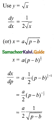 Samacheer Kalvi 11th Business Maths Guide Chapter 6 Applications of Differentiation Ex 6.1 Q8.1