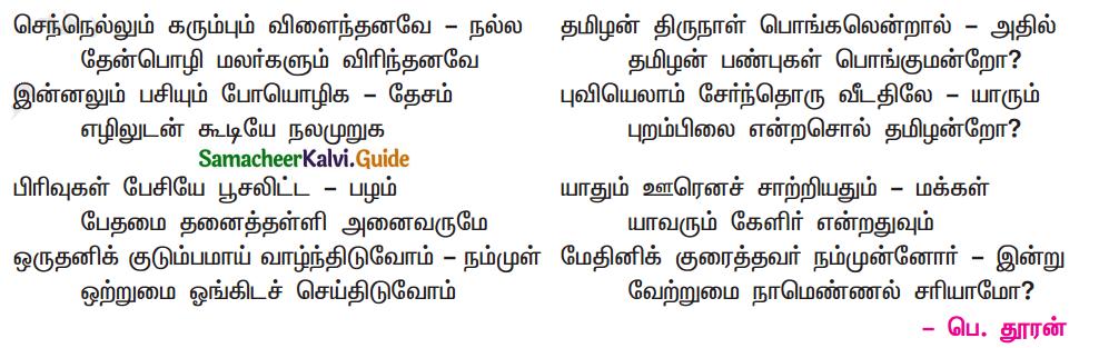 Samacheer Kalvi 11th Tamil Chapter 5.5 பா இயற்றப் பழகலாம் - 1