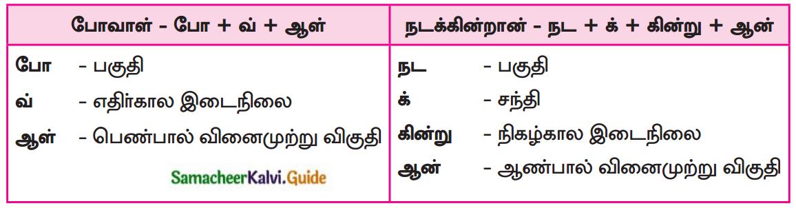 Samacheer Kalvi 7th Tamil Guide Chapter 5.5 ஒரெழுத்து ஒருமொழி, பகுபதம், பகாப்பதம் 3
