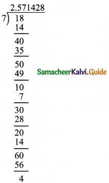 Samacheer Kalvi 8th Maths Book Answers Chapter 1 Numbers Ex 1.1 12