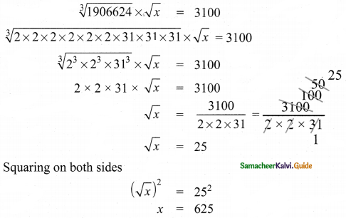 Samacheer Kalvi 8th Maths Guide Answers Chapter 1 Numbers Ex 1.7 10
