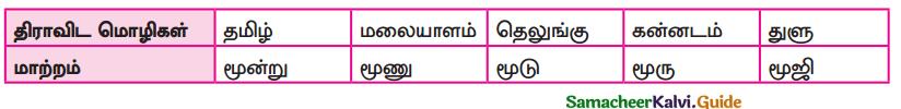 Samacheer Kalvi 9th Tamil Guide Chapter 1.1 திராவிட மொழிக்குடும்பம் - 1