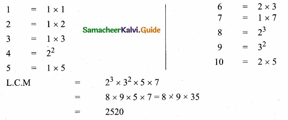 Samacheer Kalvi 10th Maths Guide Chapter 2 Numbers and Sequences Ex 2.2 8