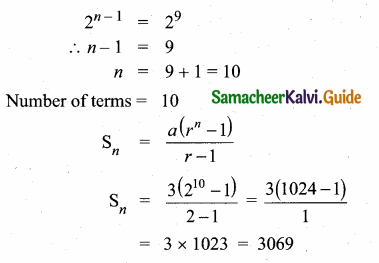 Samacheer Kalvi 10th Maths Guide Chapter 2 Numbers and Sequences Ex 2.8 11