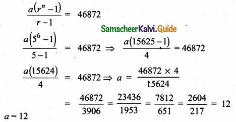 Samacheer Kalvi 10th Maths Guide Chapter 2 Numbers and Sequences Ex 2.8 5
