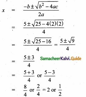 Samacheer Kalvi 10th Maths Guide Chapter 3 Algebra Ex 3.11 2