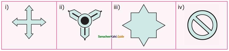 Samacheer Kalvi 6th Maths Guide Term 3 Chapter 4 Symmetry Ex 4.1 2