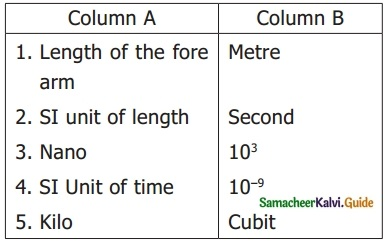 Samacheer Kalvi 6th Science Guide Term 1 Chapter 1 Measurements 1