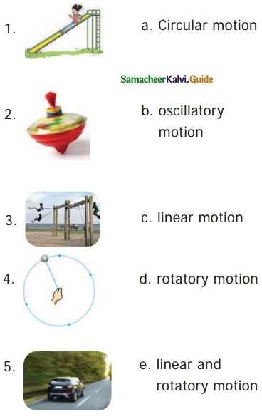 Samacheer Kalvi 6th Science Guide Term 1 Chapter 2 Force and Motion 1