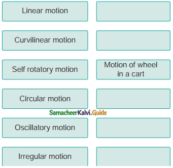 Samacheer Kalvi 6th Science Guide Term 1 Chapter 2 Force and Motion 6