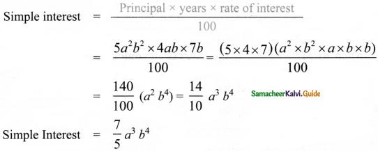 Samacheer Kalvi 8th Maths Guide Answers Chapter 3 Algebra Ex 3.5 2