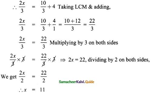 Samacheer Kalvi 8th Maths Guide Answers Chapter 3 Algebra Ex 3.6 5