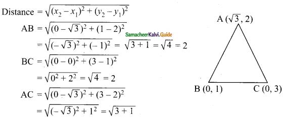 Samacheer Kalvi 9th Maths Guide Chapter 5 Coordinate Geometry Ex 5.2 10