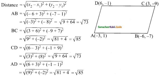 Samacheer Kalvi 9th Maths Guide Chapter 5 Coordinate Geometry Ex 5.2 11