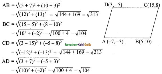 Samacheer Kalvi 9th Maths Guide Chapter 5 Coordinate Geometry Ex 5.2 12