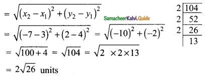 Samacheer Kalvi 9th Maths Guide Chapter 5 Coordinate Geometry Ex 5.2 2