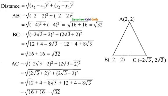 Samacheer Kalvi 9th Maths Guide Chapter 5 Coordinate Geometry Ex 5.2 9