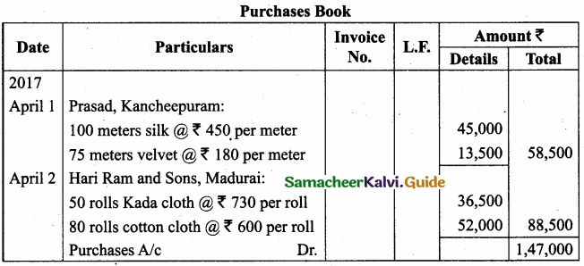 Tamil Nadu 11th Accountancy Model Question Paper 3 English Medium img 20