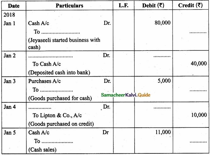 Tamil Nadu 11th Accountancy Model Question Paper 3 English Medium img 8