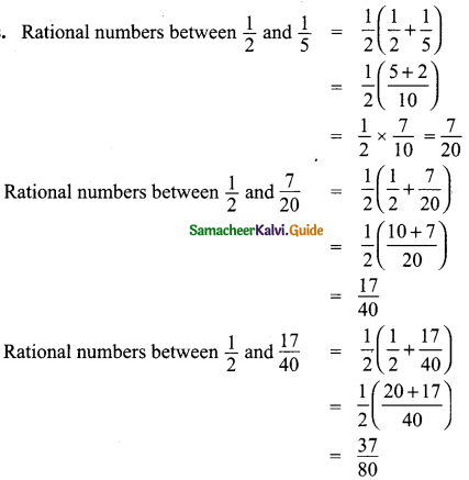 Samacheer Kalvi 9th Maths Guide Chapter 2 Real Numbers Additional Questions 4