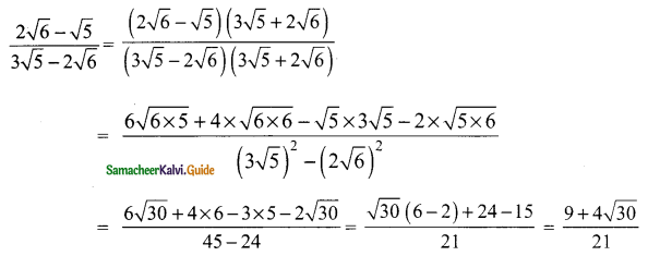 Samacheer Kalvi 9th Maths Guide Chapter 2 Real Numbers Ex 2.7 3
