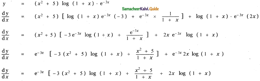 Samacheer Kalvi 11th Maths Guide Chapter 10 Differentiability and Methods of Differentiation Ex 10.2 11