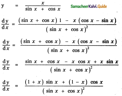 Samacheer Kalvi 11th Maths Guide Chapter 10 Differentiability and Methods of Differentiation Ex 10.2 3